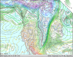 850mb Winds, Temp., RH